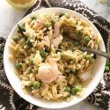 Shrimp and Pea Orzo Pasta Salad