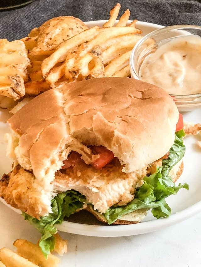 Air Fryer Chik-Fil-A Spicy Chicken Sandwich