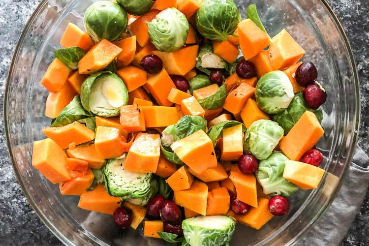 Roasted Brussel Sprouts and Butternut Squash