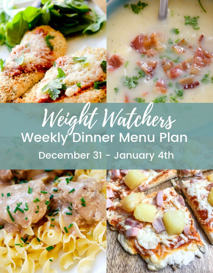 Weight Watchers Weekly Dinner Menu Plan
