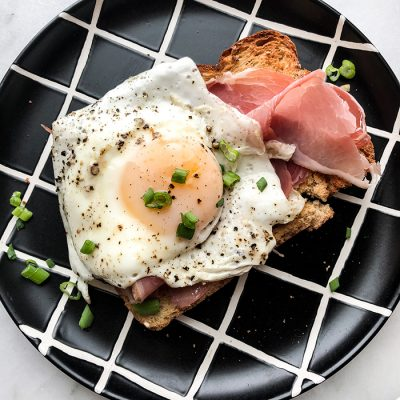 Prosciutto and Egg Toast