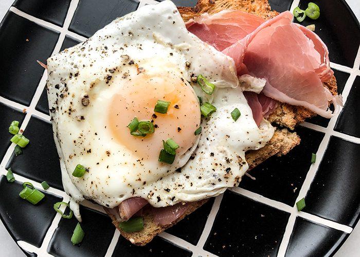 Prosciutto and Egg Toast