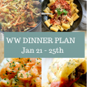WW Weekly Dinner Plan – 21 – 25th