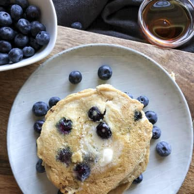 Almond Flour Blueberry Pancakes