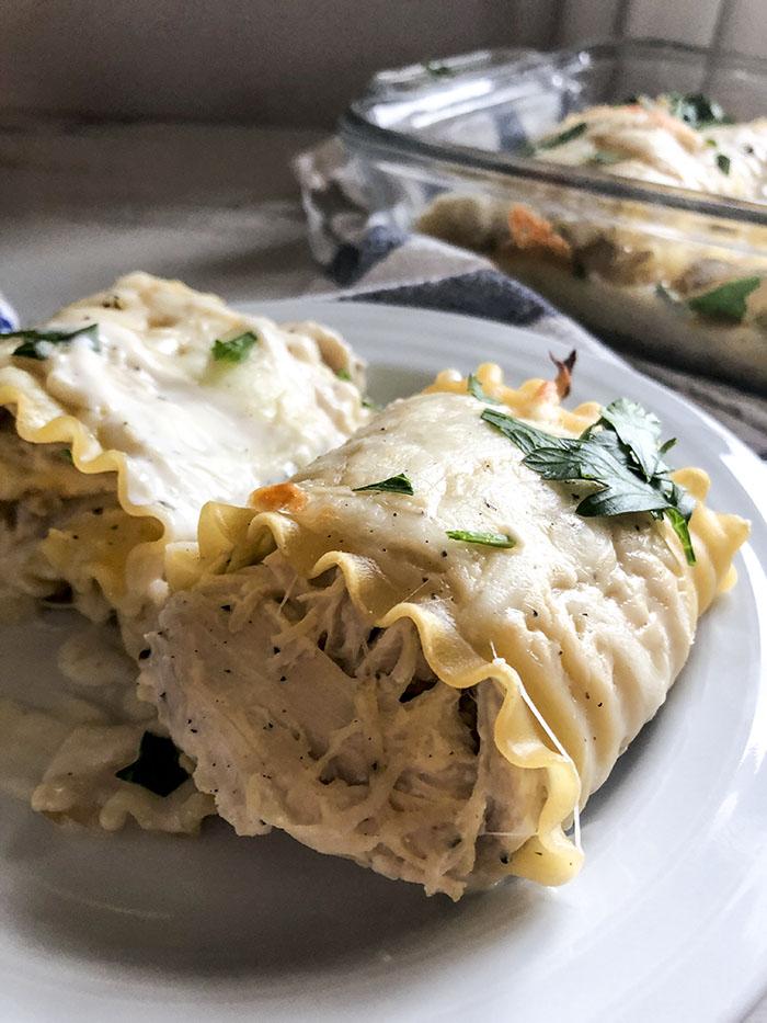 Crack Chicken Lasagna Rollups