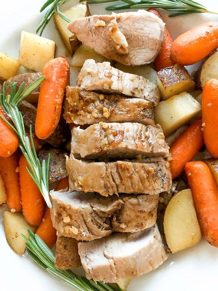 Potatoes and Carrots with Pork Tenderloin