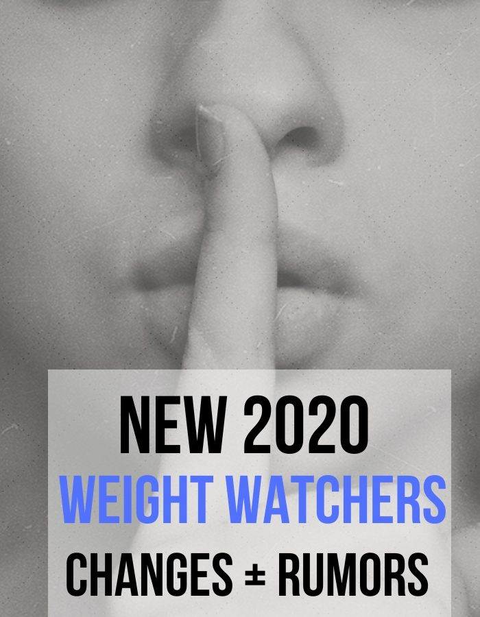 New 2020 Weight Watcher Changes