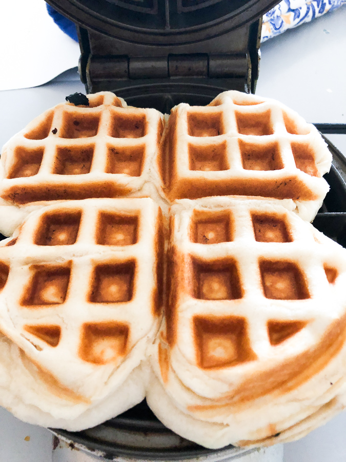 Canned Biscuit Waffles