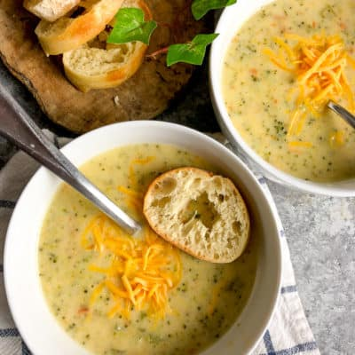 Instant Pot Broccoli Cheddar Soup – Weight Watchers