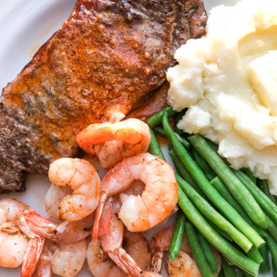 Air Fryer Surf and Turf