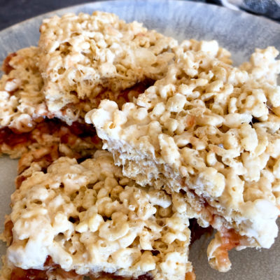 Peanut Butter and Jelly Rice Krispies