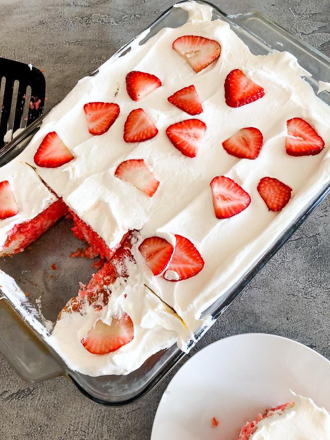 How to Make Strawberry Poke Cake