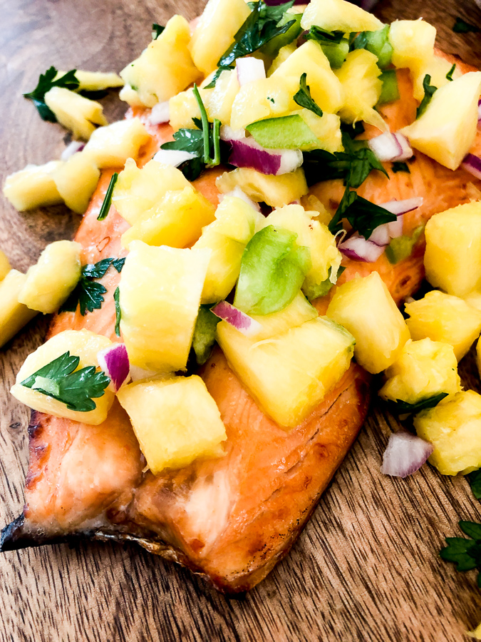 Salmon with Pineapple Salsa