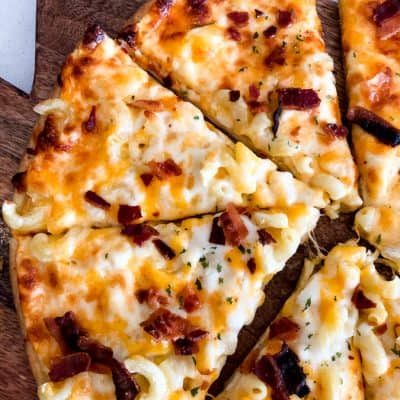 Bacon Mac and Cheese Pizza