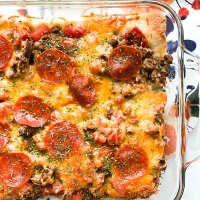 Weight Watcher's Deep Dish Pizza Casserole