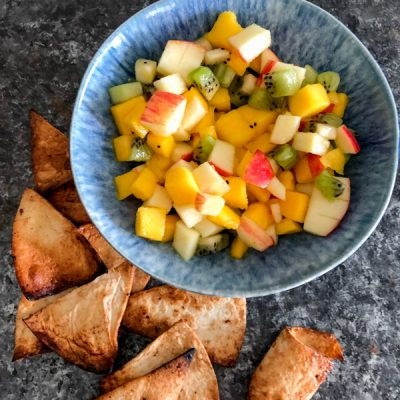 Air Fryer Cinnamon Chips with Fruit Salsa